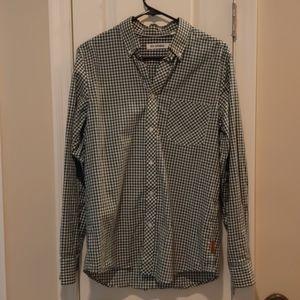 Ben Sherman hunter green button down shirt